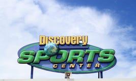 Sinal do centro de esportes da descoberta fotos de stock royalty free