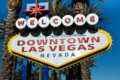 Sinal do centro de Las Vegas Fotografia de Stock Royalty Free