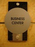 Sinal do centro de negócios Imagem de Stock Royalty Free