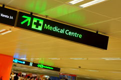 Sinal do centro médico Foto de Stock