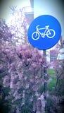 Sinal do ciclismo Imagens de Stock