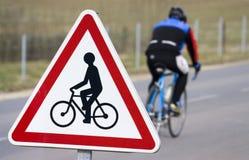 Sinal do ciclista Fotografia de Stock Royalty Free
