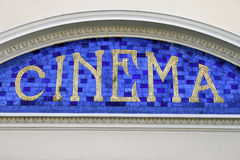 Sinal do cinema Foto de Stock