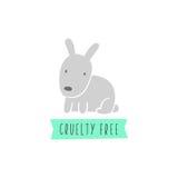 Sinal do coelho A crueldade livra vegan Fotos de Stock