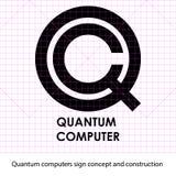 Sinal do computador do quantum ilustração do vetor