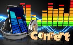 sinal do concerto do telefone celular 3d Fotos de Stock