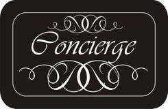 Sinal do Concierge Fotografia de Stock Royalty Free