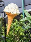 Sinal do cone de gelado Imagem de Stock