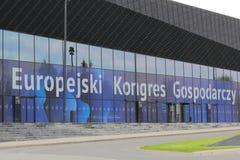 Sinal do congresso econômico europeu imagem de stock