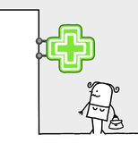 Sinal do consumidor & da loja - farmácia Imagens de Stock