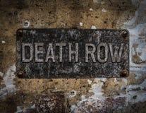 Sinal do corredor da morte foto de stock