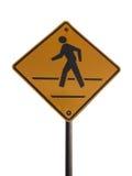 Sinal do Crosswalk foto de stock