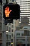 Sinal do cruzamento Foto de Stock