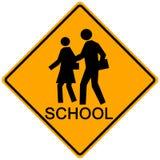 Sinal do cruzamento de escola Imagens de Stock Royalty Free