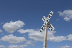 Sinal do cruzamento de estrada de ferro Imagens de Stock