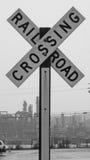 Sinal do cruzamento de estrada de ferro fotos de stock
