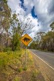 Sinal do cruzamento do diabo tasmaniano Imagem de Stock Royalty Free