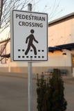 Sinal do cruzamento pedestre Imagem de Stock