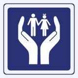 Sinal do cuidado das crianças ilustração stock
