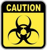 Sinal do cuidado de Biohazard ilustração royalty free