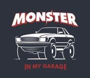 Sinal do cupê do monster truck Fotos de Stock Royalty Free