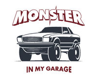 Sinal do cupê do monster truck Imagens de Stock Royalty Free