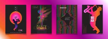 Sinal do curso do festival da dança da música jazz ilustração stock