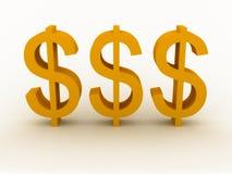 Sinal do dólar ilustração royalty free