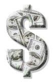 Sinal do dólar americano Imagens de Stock Royalty Free
