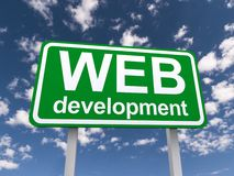 Sinal do desenvolvimento da Web Fotografia de Stock