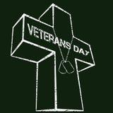 Sinal do dia de veteranos Imagem de Stock
