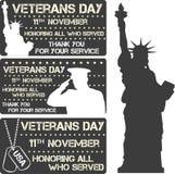 Sinal do dia de veteranos Fotos de Stock
