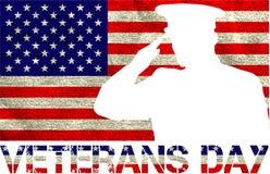 Sinal do dia de veteranos ilustração stock