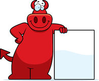 Sinal do diabo dos desenhos animados Fotografia de Stock