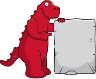 Sinal do dinossauro Fotos de Stock