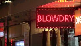 Sinal do diodo emissor de luz do salão de beleza vídeos de arquivo