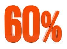 Sinal do disconto 3d dos por cento Imagem de Stock