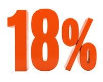 Sinal do disconto 3d dos por cento Foto de Stock Royalty Free