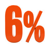 Sinal do disconto 3d dos por cento Imagens de Stock
