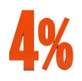 Sinal do disconto 3d dos por cento Fotografia de Stock