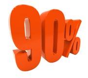Sinal do disconto 3d dos por cento Imagens de Stock Royalty Free