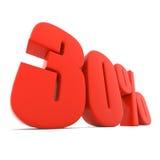 Sinal do disconto do vermelho 30% Imagem de Stock Royalty Free
