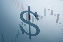 Sinal do dólar americano Fotos de Stock Royalty Free