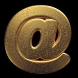 Sinal do e-mail do ouro - 3d no símbolo do metal precioso do sinal - apropriado para a fortuna, o negócio ou assuntos relacionado ilustração royalty free