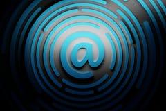 Sinal do email Conceito de uma comunicação da correspondência da mensagem ilustração royalty free