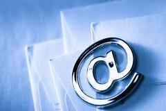 Sinal do email no envelope vazio Imagens de Stock Royalty Free