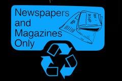 Sinal do escaninho de recicl Imagem de Stock Royalty Free