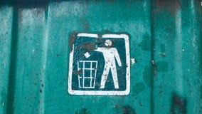 Sinal do escaninho de reciclagem Imagem de Stock