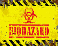 Sinal do esmalte do Biohazard Fotografia de Stock