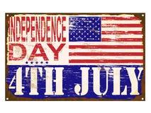Sinal do esmalte do Dia da Independência Imagem de Stock Royalty Free